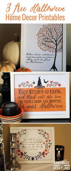 Halloween Decor: 3 Free Halloween Poem Prints, easy to download and print and add some extra spook to your house this october!