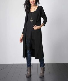 Look what I found on #zulily! Black Long Sweater Cardigan #zulilyfinds