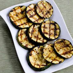 How to Grill Zucchini - Perfect Every Time! from Kalyn's Kitchen  #SouthBeachDietRecipes  #LowGlycemicRecipes