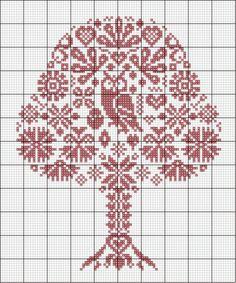 cross stitch pattern, owl and tree Cross Stitch Owl, Cross Stitch Samplers, Cross Stitch Animals, Cross Stitch Flowers, Cross Stitch Charts, Cross Stitch Designs, Cross Stitching, Cross Stitch Embroidery, Embroidery Patterns