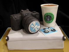 Starbucks and a camera cake??  Nice.