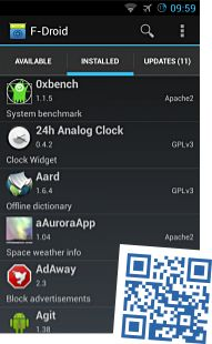 F-Droid is an installable catalogue of FOSS (Free and Open Source Software) applications for the Android platform. The client makes it easy to browse, install, and keep track of updates on your device.