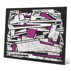 Click Wall Art 'Jumble Stack' Graphic Art Size: