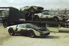 GT40 after the hard work. This is old time racing.