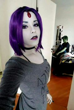 Perfect Raven and Beast Boy cosplay