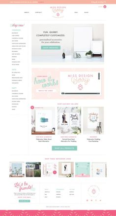 Shopify home page design for a stationery brand