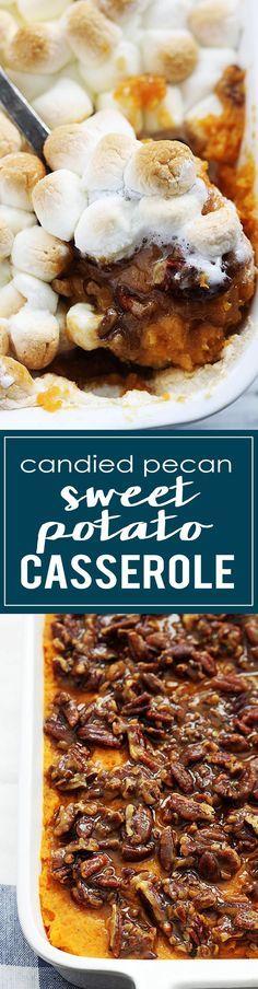 Candied Pecan Sweet Potato Casserole   http://lecremedelacrumb.com