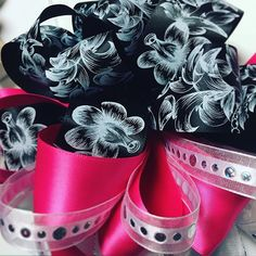 Celebrate your big day in style with our new Chalkboard inspired Morex Ribbon ribbons! They mix great with our corsage and satin ribbons. Pictured is our exclusive Chalkboard Flora ribbon. Along with our double face satin and Justina ribbons.