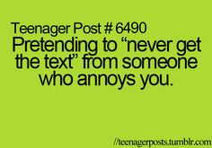 Teenager Post... I do this... I know... shame on me