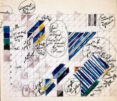"""Mostra """"Oggetti Misteriosi""""_Milano, curata da Salvatore Licitra - Gio Ponti, Pavimenti per gli uffici della Salzburger Nachrichten, studio per pavimento. © Gio Ponti Archives"""