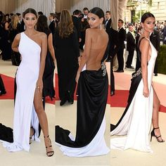 The breathtaking Emily Ratajkowski is a haute couture vision in an Atelier Prabal Gurung jet and pearl silk bias cut gown with hand draped back and hand cut glass crystals and Tiffany &Co high jewelry at the 2016 Manus x Machina: Fashion in an Age of Technology.  @tiffanyandco #MetGala #modernglamour #femininitywithabite #pgmuse #pgworld #vogue #manusxmachina
