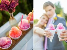 Fun Summer Wedding Food Your Guests Will Love Snow Cones at a wedding reception - everything about this is so right! You can even use your wedding colors as the syrup. wedding peach Fun Summer Wedding Food Your Guests Will Love Wedding Buffet Food, Rustic Wedding Foods, Diy Wedding Reception Food, Wedding Ideas, Food Buffet, Buffet Ideas, Wedding Fun, Fall Wedding, Wedding Stuff