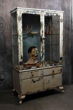 Vintage Antique Medical Cabinet by Max Wocher & von FoundInAttic