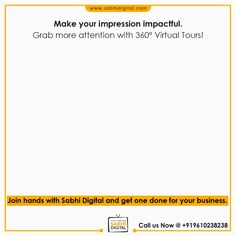 It is a tough world and creating an impression is a bigger competition with all these people competing to grab the attention of folks on the internet.  Now gain more attention and give your audience an insight into your business with the help of a 360° Virtual Tour.   Call Us @+919610238238 to discuss how we helped our clients shape their branding strategies.  #contentmarketing #Digitalmarketing #SEO #blogging #marketing #branding #marketingtips #marketingstrategy #startup #b2bmarketing Marketing Branding, Content Marketing, Digital Marketing, Website Development Company, App Development, 360 Degree Photography, Branding Strategies, Domain Knowledge, 360 Virtual Tour