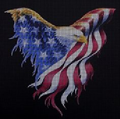 Wavy Flag Eagle Crochet Pattern                              …