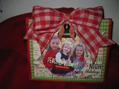 Christmas Photo Frame with Red Gingham Bow. by TallahatchieDesigns, $18.00