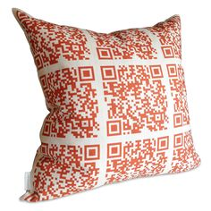 Modern QR Code Cushion | UncommonGoods