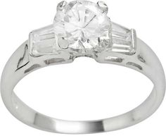 fcc484883 Kohl's Rhodium-Plated Sterling Silver Cubic Zirconia Ring Jewelry Rings,  Silver Jewelry, Jewellery