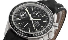 Triple date, dual time zone Speedmaster chrono.