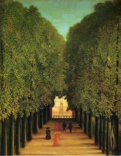 Tableaux sur toile, reproduction de Douanier Rousseau, Allée dans le parc de Saint Cloud