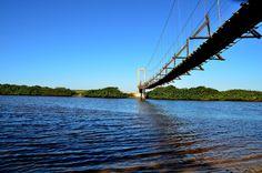 Ponte Pênsil - Barra do Itapocu | Foto de Jaqueline Ronsani #araquari #natureza #praias