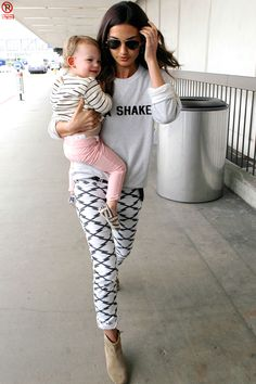 Lily Aldridge printed Isabel Marant pants are so perfect for spring!