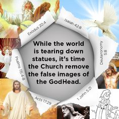 Acts 17:29 - Forasmuch then as we are the offspring of God, we ought not to think that the Godhead is like unto gold, or silver, or stone, graven by art and man's device. Exodus 20 4, Galatians 5 19, Isaiah 42, Graven Images, Christian Posters, John 5, Tear Down, The Kingdom Of God, In The Flesh