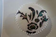 Cupcake fondant con stencil y mireya