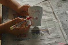 Personalizando tazas