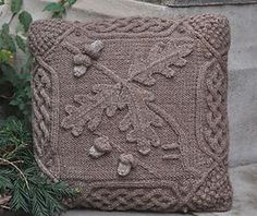 Celtic Oak Pillow | cable knitting pattern by Barbara A Pott