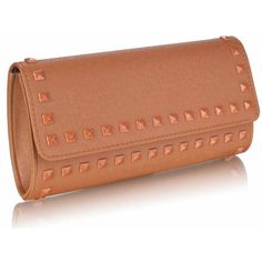 75a2e5633b607d Coffee coloured studded clutch bag. The more basic clutch for those of you  who prefer a little less sparkle. handbagandheel.com