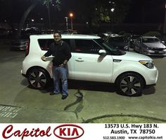 https://flic.kr/p/DPsRCJ | Happy Anniversary to Hector on your #Kia #Soul from Robert Bills at Capitol Kia! | deliverymaxx.com/DealerReviews.aspx?DealerCode=RXQC