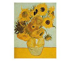 Stampa fine art su canvas con telaio in legno Sunflowers - 80x60x4 cm