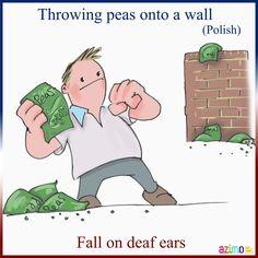 Rzucać grochem o ścianę