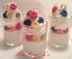 Fruit Rings of Love Cupcake Votives www. Wine Candles, Unique Candles, Best Candles, Best Smelling Candles, Cupcake Candle, Candle Making Business, Homemade Candles, Scented Candles, Candle Making Supplies