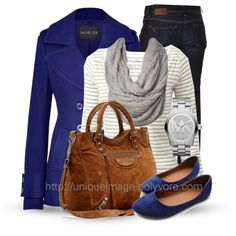 Fall Outfits | Rachel Zoe Pea Coat | Fashionista Trends Great Blue Devils game day outfit