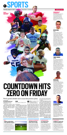 High School Football Preview #Layout #GraphicDesign #Sports #Newspaper