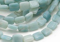 AMAZONITE puff rectangular beads, NATURAL  10 mm x 8 mm  aqua shades Aqua, Shades, Natural, Ebay, Sunglasses, Eye Shadow, Draping, Nature, Water