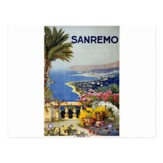 #Vintage Travel Sanremo Italy Postcard - #vintage #travel #cards #custom #personalize