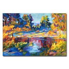 David Lloyd Glover 'The Colors of New Hampshire' Canvas Art - 15511449 - Overstock.com Shopping - The Best Prices on Trademark Fine Art Gallery Wrapped Canvas