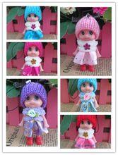 5 unids nuevos juguetes de los niños suave interactivo muñecas del bebé Mini muñeca para las niñas y los niños envío gratis(China (Mainland))