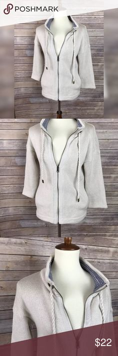 Ann Taylor LOFT Small Short Sleeve Full Zip Jacket About this item: Brand: Ann Taylor Loft Size/Fit: Small Color: Tan Flaws: None located.  Measurements: Pit to Pit:20in, Pit to hem:16.5in; Sleeve length from Pit:15in (hits at aprx elbow length)  💕Feedback is appreciated! Please contact me before leaving negative or neutral feedback.  ❌No swaps or trades.  ❌No PayPal  ✨Please understand I try to capture colors as best I can. Due to differences in computer & phone screens resolution, the…