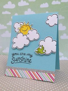 Lawn Fawn Sunny Skies stamps & dies and Echo Park Summer Days papers