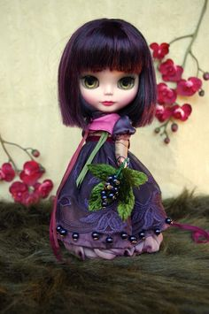Photo: Kikihalb. Cassis – Lounging Lovely – Kikihalb customized Blythe and outfit inspired by Korean traditional costumes.