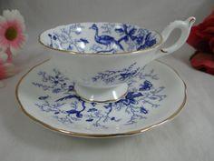 Vintage Coalport English Bone China Cairo Blue by SecondWindShop