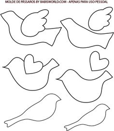 Bird ornament template