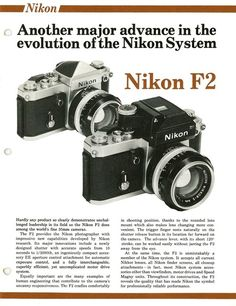 Vintage Camera Image 1 - Eight pages of product information on the Nikon System camera and accessories. Antique Cameras, Old Cameras, Vintage Cameras, Camera Nikon, Camera Gear, Photography Camera, Photography Tips, Pregnancy Photography, Photography Tutorials