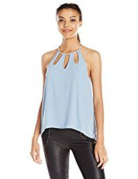 New BCBGMAXAZRIA Women's Adel Keyhole Tank Top online. Find the perfect iHeartRaves Tops-Tees from top store. Sku SLMF56356BHMO70350