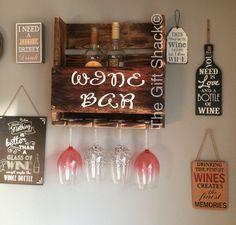 Reclaimed Wood Wine Rack & Glass Holder от TheGiftShackTowyn