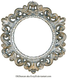 Ornate Silver and Gold - Round Frame by EveyD.deviantart.com on @deviantART